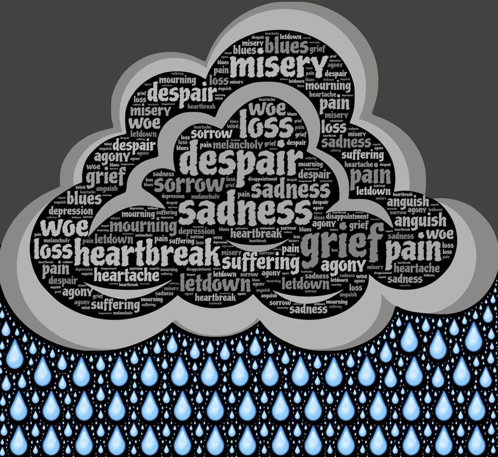 Image: Dark cloud of sadness
